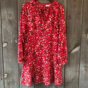🌺 LOFT red flower dress